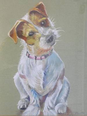 Pastel - Jack Russell Watching You by Teresa Smith
