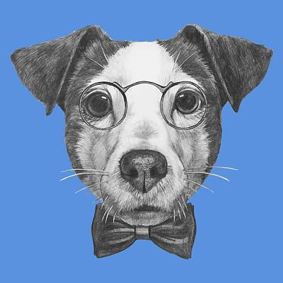 Animal Lover Digital Art - Jack Russell With Glasses And Bow Tie by Marco Sousa