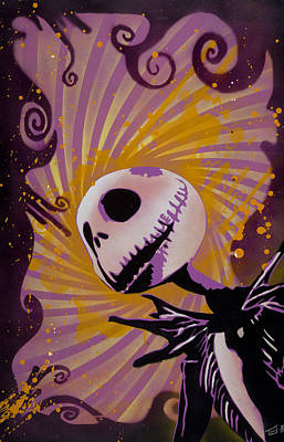 Drips Painting - Jack Skellington by Tai Taeoalii
