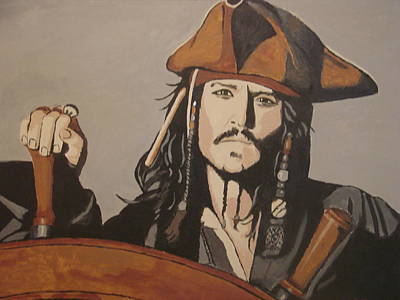 Painting - Jack Sparrow by Bob Gregory
