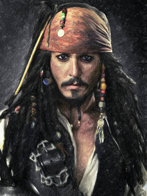 Johnny Depp Painting - Jack Sparrow by Taylan Apukovska