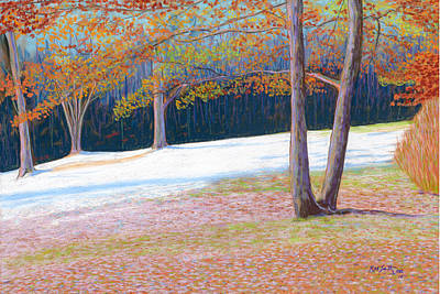 Jack Tree In Early Winter Art Print by Rae  Smith PSC