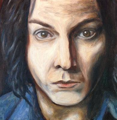 Blue Painting - A Tribute To Jack White by Jac Mason