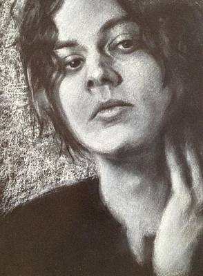 Susan Conner Drawing - Jack White by Susan Conner