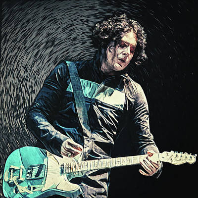 Digital Art - Jack White by Taylan Apukovska