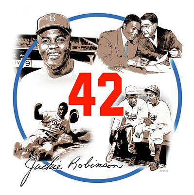Baseball Royalty-Free and Rights-Managed Images - Jackie 42 by Greg Joens