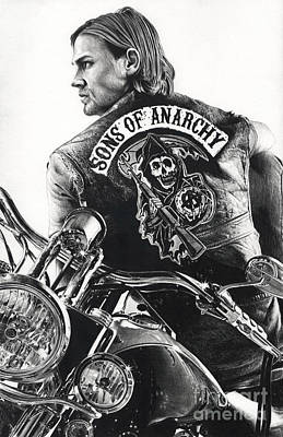 Sons Of Anarchy Drawing - Jackie Boy by James Holko