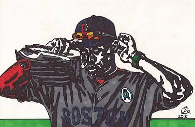 Mlb Boston Red Sox Drawing - Jackie Bradley Jr by Jeremiah Colley