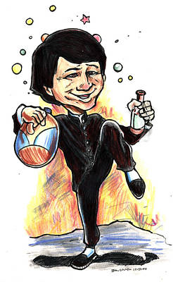 Caricature Drawing - Jackie Chan Drunken Master by John Ashton Golden