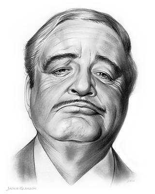 Cities Drawings - Jackie Gleason by Greg Joens