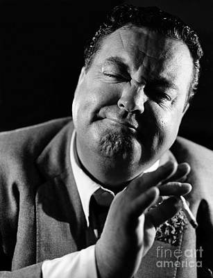 Photograph - Jackie Gleason by Hans Namuth