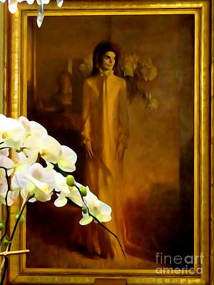 Digital Art - Jackie In The Vermeil Room by Ed Weidman