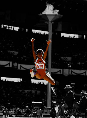 Hawk Mixed Media - Jackie Joyner Kersee by Brian Reaves