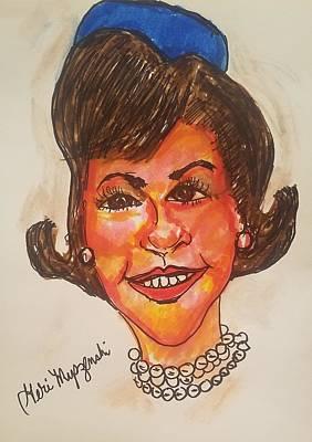 President Iphone Cases Painting - Jackie Kennedy by Geraldine Myszenski