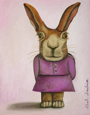 Jack Rabbit Painting - Jackie by Leah Saulnier The Painting Maniac