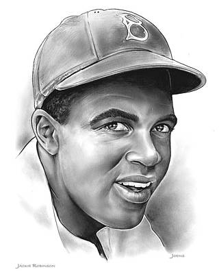 Baseball Royalty-Free and Rights-Managed Images - Jackie Robinson by Greg Joens