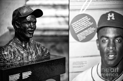 Photograph - Jackie Robinson Montreal Memorial by John Rizzuto