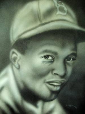 Jackie Robinson Art Print by Scott Easom