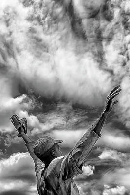 Athletes Photos - Jackie Robinson Statue Journal Square Jersey City NJ by Robert Ullmann