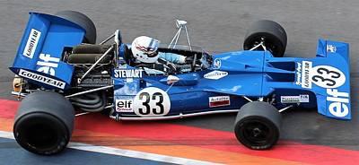 Racing Car Photograph - Jackie Stewart F1 Car by Barend Van Wieringen