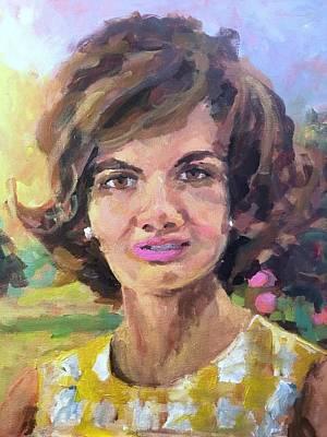Jackie Kennedy Onassis Painting - Jackie by Susan E Jones