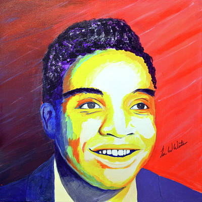 Painting - Jackie Wilson by Lee Wolf Winter