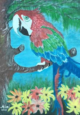 Painting - Jacko The Parrot  by Mimi Eskenazi