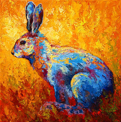 Forest Painting - Jackrabbit by Marion Rose