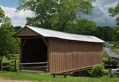 Photograph - Jacks Covered Bridge Near Woolwine Virginia by Suzanne Gaff