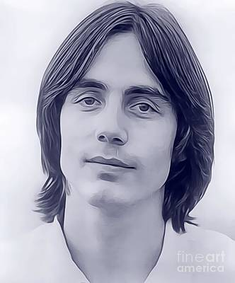 Music Digital Art - Jackson Browne, Music Legend by John Springfield