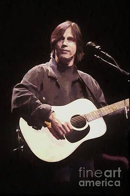 Photograph - Jackson Browne Oil Painting Enlargements by Concert Photos