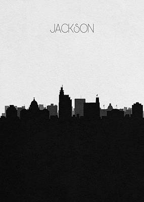 Mixed Media - Jackson Cityscape Art by Inspirowl Design