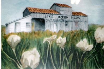 Cotton Gin Painting - Jackson Cotton Gin by Felix Turner