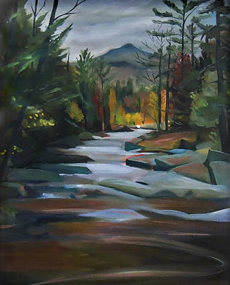 Painting - Jackson Falls Plein Air Card Art by Nancy Griswold