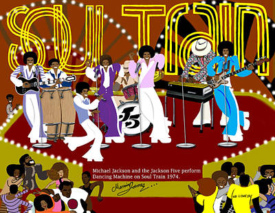 Jackson 5 Drawing - Jackson Five - Dancing Machine by Marvin James