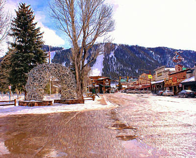 Yellowstone Mixed Media - Jackson Hole by Bill And Deb Hayes