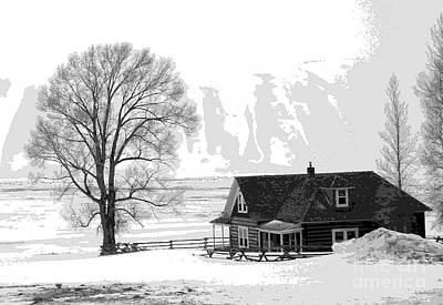 Photograph - Jackson Hole In Snow by David Bearden