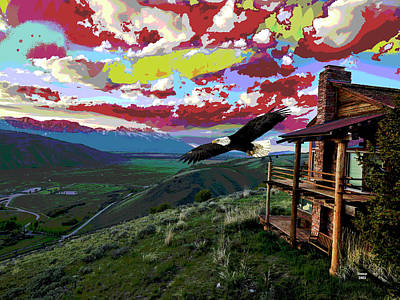 Wood Duck Mixed Media - Jackson Hole Wyoming by Charles Shoup