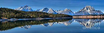Photograph - Jackson Lake Fall Reflection Panorama by Adam Jewell