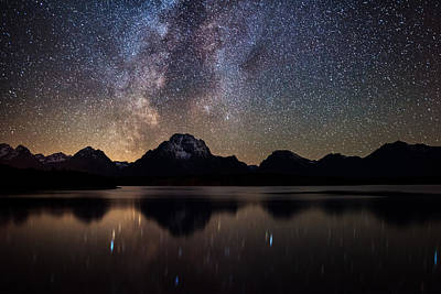 Photograph - Jackson Lake Milky Way by Darren White