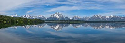 Photograph - Jackson Lake Panorama by Darren  White