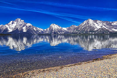 Photograph - Jackson Lake Reflection Hdr by Dan Sproul
