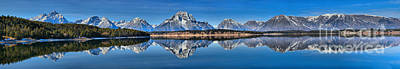 Photograph - Jackson Lake Reflections Extra Wide Panorama by Adam Jewell