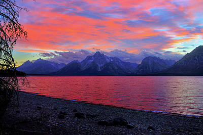 Photograph - Jackson Lake Sunset by Greg Norrell