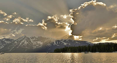 Photograph - Jackson Lake Sunset View by Dan Sproul