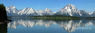 Photograph - Jackson Lake With Grand Teton Reflection by Christiane Schulze Art And Photography