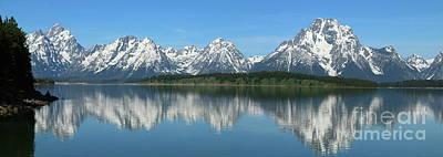 Photograph - Jackson Lake With Grand Teton Reflection by Christiane Schulze Art And Photography