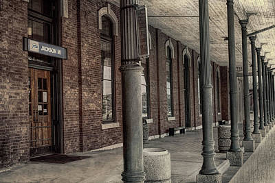 Photograph - Jackson Michigan Train Depot by Pat Cook