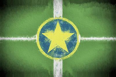 Digital Art - Jackson Mississippi Flag by JC Findley
