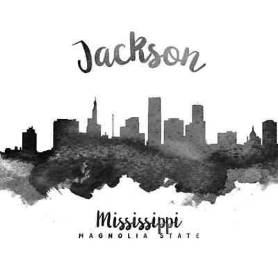 Jackson Mississippi Skyline 18 Art Print by Aged Pixel
